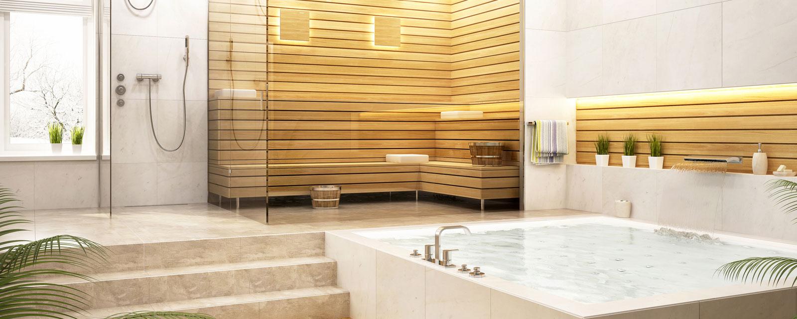 A luxurious bathtub